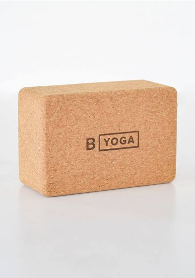 Natural cork block for yoga