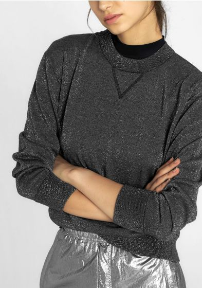 Lurex Knit Sweatshirt