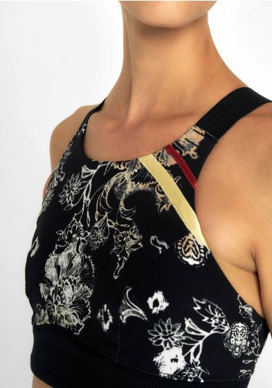 Printed high neck sports bra for womens