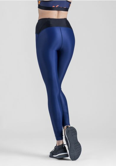 Womens blue discus leggings